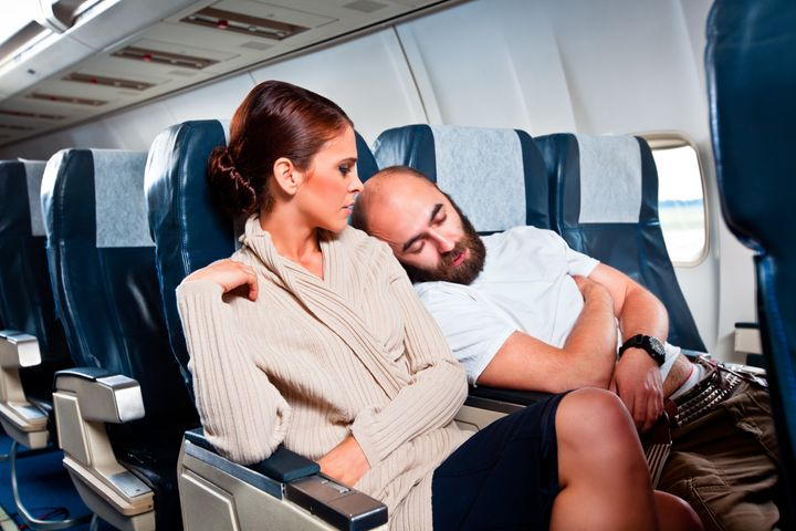 It's important to respect personal boundaries on flights.